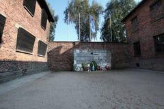 Area di Oswiecim, Polonia Auschwitz Fotografia Stock Libera da Diritti
