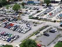 Area di parcheggio Fotografia Stock Libera da Diritti