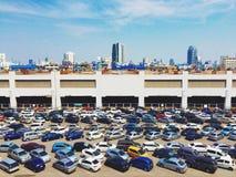 Area di parcheggio Fotografia Stock