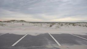 Area di parcheggio dell'automobile a Pensacola, Florida Area della spiaggia video d archivio