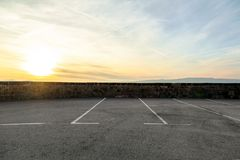 Area di parcheggio vuota Immagini Stock Libere da Diritti