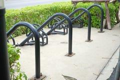 Area di parcheggio vuota della bicicletta Fotografia Stock Libera da Diritti
