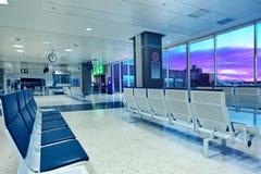Area di partenze dell'aeroporto di Valencia. fotografia stock libera da diritti