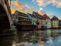 Area di Petite France a Strasburgo fotografia stock libera da diritti