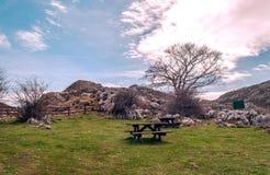 Area di picnic Fotografia Stock