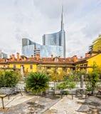 Area di Porta Nuova, Milano, Italia Immagine Stock