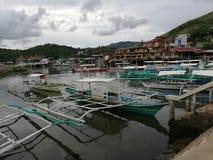 Area di porto di Coron Fotografie Stock
