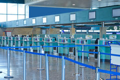 Area di registrazione nell'aeroporto Fotografie Stock