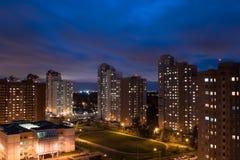 Area di Residental alla notte Immagini Stock Libere da Diritti