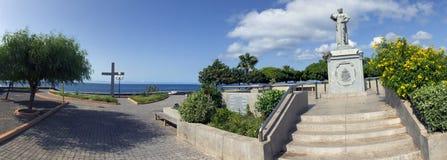 Area di ricreazione della città Monumento a Papa Giovanni Paolo II Fotografia Stock