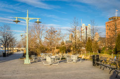Area di ricreazione in parco pubblico a New York Immagini Stock