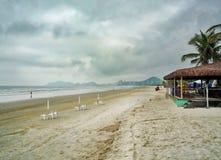 Area di rilassamento alla spiaggia Fotografia Stock Libera da Diritti