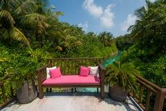 Area di rilassamento alle Maldive Immagine Stock