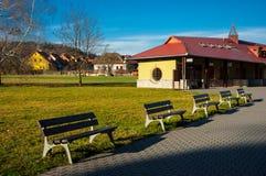 Area di riposo per i turisti Fotografia Stock