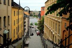 Area di Sodermalm, Stoccolma, Svezia Fotografie Stock