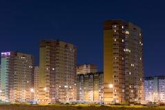Area di sonno della città Alte case Fotografia Stock Libera da Diritti