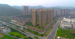 Area di sonno nella città cinese Bella città moderna, Cina archivi video