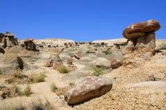 Area di studio della regione selvaggia Ah-Shi-Sle-Pah; Il New Mexico Fotografia Stock Libera da Diritti