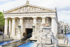 Area di tema greca - parco di europa, Germania fotografie stock
