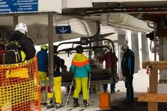 Area Dienten Hochkonig, alpi dello sci dell'Austria nell'inverno Fotografie Stock