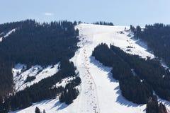 Area Dienten Hochkonig, alpi dello sci dell'Austria nell'inverno Fotografia Stock