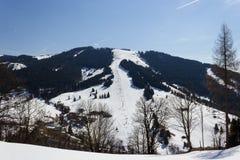 Area Dienten Hochkonig, alpi dello sci dell'Austria nell'inverno Fotografie Stock Libere da Diritti