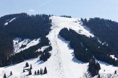 Area Dienten Hochkonig, alpi dello sci dell'Austria nell'inverno Immagine Stock