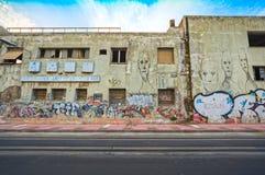 Area difficile e degradata a Pireo - la Grecia fotografia stock libera da diritti