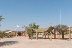 Area ed uffici di parcheggio al campo di resto di Olifantsrus Fotografia Stock Libera da Diritti