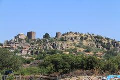 Area egea - castello di Asso, tempio di Atena, Immagine Stock