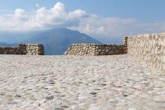 Area facente un giro turistico a Meteora Fotografie Stock Libere da Diritti