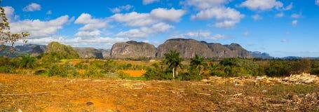 Area famosa del tabacco del terreno coltivabile di Cuba, Valley de Vinales, Cuba Fotografia Stock Libera da Diritti