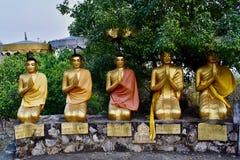 Golden Statues at Phnom Sampeau area, Battambang, Cambodia stock photos