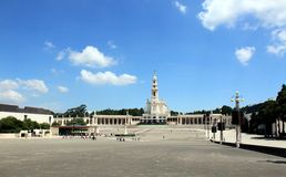 Area in Fatima. The religious pilgrimage site of Fatima, Portygal stock photography