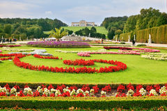 Area with flower beds Royalty Free Stock Photography