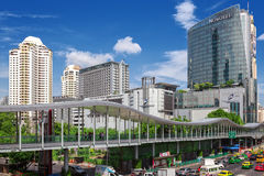 Area in front Central World. Bangkok City Stock Image