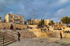 Area in front Damascus gate of Jerusalem Stock Photography