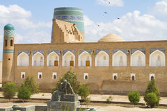 Area in front of the Fortress in the old city of Khiva, Uzbekistan Royalty Free Stock Image