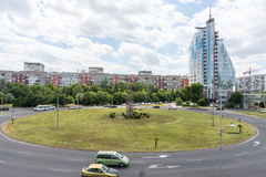 Area in front of Mirage Hotel in Burgas, Bulgaria Royalty Free Stock Photos