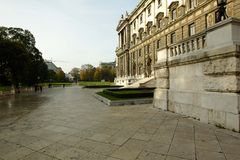 The area in front of the National library of Austria in Vienna Stock Images