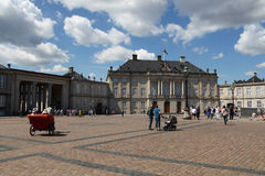 Area in front of the royal palace of Amalienborg in Copenhagen Royalty Free Stock Images