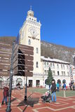 The area in front of the town hall, Rosa Khutor. Royalty Free Stock Photography