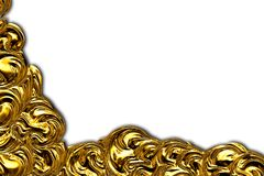 The area of gold foil. Royalty Free Stock Photos
