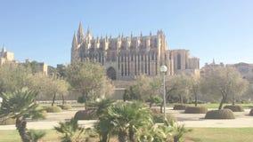 Area gotica della cattedrale e del parco di Seu della La video d archivio