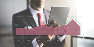 Area Graph Chart Statistics analytics Concept Royalty Free Stock Photos