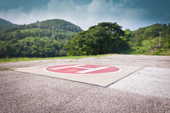 Area for helicopter landing Royalty Free Stock Photo
