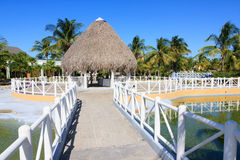 Area of hotel Sol Cayo Largo. Cuba royalty free stock photography