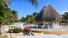 Area of hotel Sol Cayo Largo. Cuba stock photography