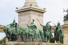 The area of Hungarian heroes Budapest Royalty Free Stock Photos