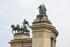 The area of Hungarian heroes Budapest Stock Photos